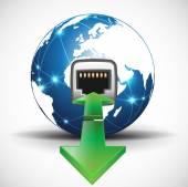 Связанный Интернет — Cтоковый вектор