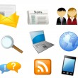Office icon set — Stock Vector #65873177