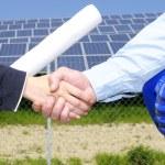Solar panel handshake — Stock Photo #58196821