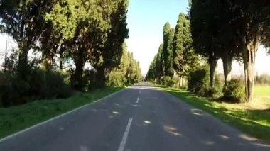 Country road in Tuscany — Stock Video