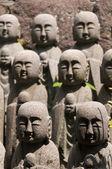 Statues of japanese monk Jizo, Kamakura — Стоковое фото
