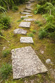Garden path paved with big stones — Stockfoto