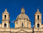 Fasade Sant Agnese in Agone — Stock Photo