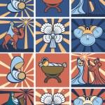 Nativity icon or symbol set — Stock Vector #56620055