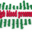 3d image High blood pressure e concept word cloud background — Stock Photo #52622089