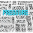 3d image Pressure concept word cloud background. Business concep — Stock Photo #52622899