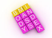 3d illustration of BMI ( Body Mass Index)  — Stock Photo