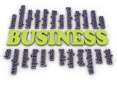 3d image Business concept word cloud background — Stock Photo