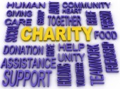 3d imagen Charity concept in word collage  — Stock Photo
