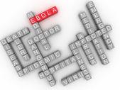 3d image ebola alert concept — Stock Photo