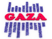 3d image Gaza concept word cloud background  — Stock Photo
