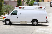 White ambulance in the street — Stock Photo