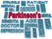 3d Parkinson's disease symbol isolated on white. Mental health s — Stock Photo