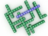 3d image Personality concept word cloud background — Stock Photo