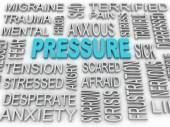 3d image Pressure concept word cloud background. Business concep — Stock Photo