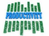 3d image Productivity concept word cloud background — Stock Photo