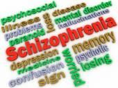 3d image Schizophrenia concept word cloud background — Stock Photo