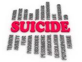 3d  imagen Suicide concept  — Stock Photo