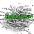 3d imagen Building Trust concept in word tag cloud on white back — Stock Photo #53812833