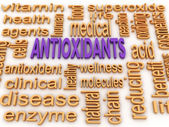 3d image Antioxidants concept word cloud background — Stock Photo