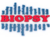 3d imagen Biopsy concept word cloud background — Stock Photo