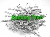 3d imagen Building Trust concept in word tag cloud on white back — Stock Photo