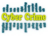 3d image Cyber Crime concept word cloud background — Stock Photo