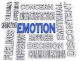 3d imagen Emotion concept word cloud background — Stock Photo