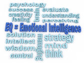 3d imagen Emotional Intelligence concept word cloud background — Stock Photo