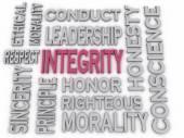 3d imagen Integrity concept word cloud background — Stock Photo