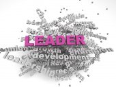 3d image Leader concept word cloud background — Stock Photo