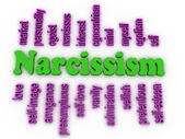 3d image Narcissism concept word cloud background — Stock Photo