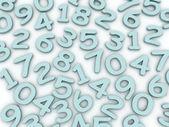 3d Modern alphabet number colour style — Stock Photo