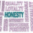 3d imagen Honesty concept in word tag cloud on white background — Stock Photo #54901993