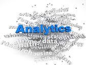 3d imagen Analitics concept word cloud background — Stock Photo