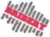 3d imagen Bribery concept word cloud background — Stock Photo