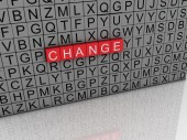 3d imagen Change concept word cloud background — Stock Photo