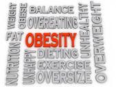 3d imagen Obesity concept word cloud background — Stock Photo