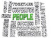 3d imagen People concept word cloud background — Stock Photo