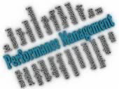 3d imagen Performance Management concept word cloud background — Stock Photo