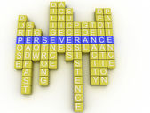 3d imagen Perseverance concept word cloud background — Stock Photo