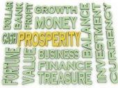 3d imagen Prosperity concept word cloud background — Stock Photo