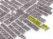 3d imagen stabilitu koncept slovo mrak pozadí. stabilita sítě — Stock fotografie