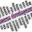3d imagen Human development concept word cloud background — Stock Photo #57382813