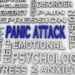 3d imagen Panic attack issues concept word cloud background — Stock Photo #57383057