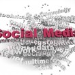 3d imagen Social Media concept word cloud background — Stock Photo #57383681