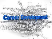 3d imagen Career development  concept word cloud background — Stock Photo