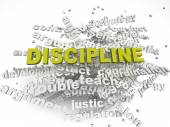 3d imagen Discipline issues concept word cloud background — Stock Photo