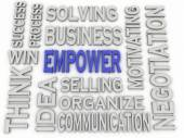 3d imagen Empower concept word cloud background — Stock Photo