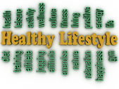 3d imagen healthy lifestyle issues concept word cloud background — Stock Photo